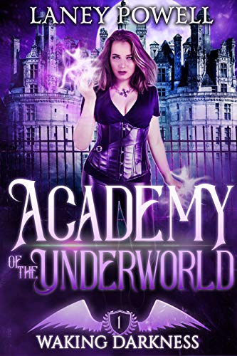 Book Cover of Waking Darkness: A Supernatural Academy Paranormal Romance (Academy of the Underworld Book 1)