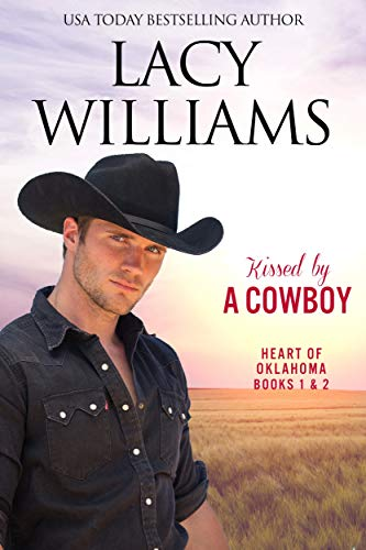 Book Cover of Kissed by a Cowboy 1 & 2: Sweet Cowboy Romance (Redbud Trails)