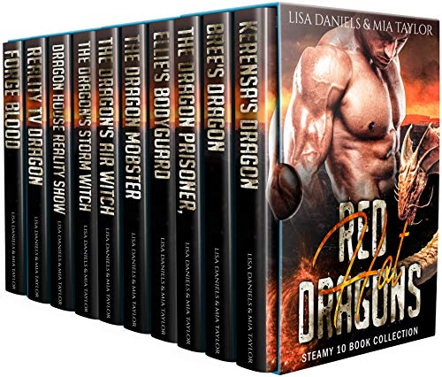 Book Cover of Red Hot Dragons Steamy 10 Book Collection