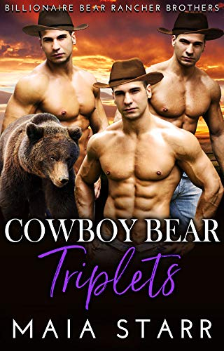 Book Cover of Cowboy Bear Triplets (Billionaire Bear Rancher Brothers Book 6)