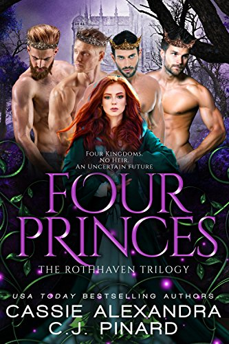 Book Cover of Four Princes: A Reverse Harem Fantasy (The Rothhaven Trilogy Book 1)