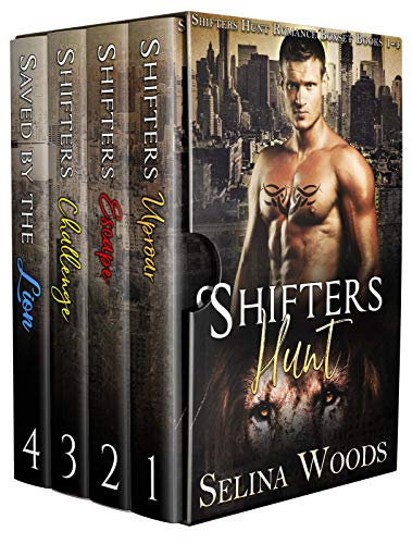 Book Cover of Shifters Hunt: Shifters Hunt Romance Boxset Books 1-4