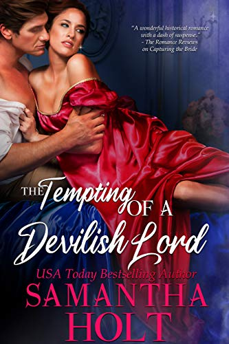Book Cover of The Tempting of a Devilish Lord (The Lords of Scandal Row Book 2)