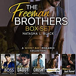 Book Cover of The Freeman Brothers: A Secret Baby Romance Collection
