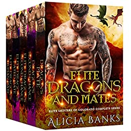 Book Cover of Elite Dragons and Mates: Elite Shifters of Colorado Complete Series Box Set