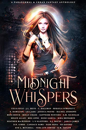 Book Cover of Midnight Whispers: A Paranormal and Urban Fantasy Anthology