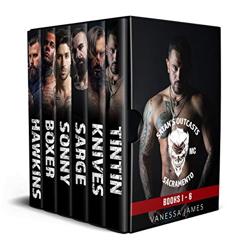 Book Cover of Satan's Outcasts MC Boxset: Ruthless Revenge Series (Books 1 to 6) (Satan's Outcasts Ruthless Revenge Series: Book 1)