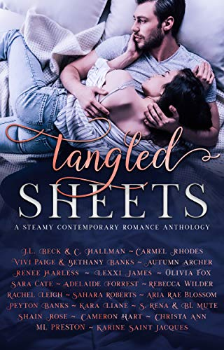 Book Cover of Tangled Sheets: A Steamy Contemporary Romance Anthology