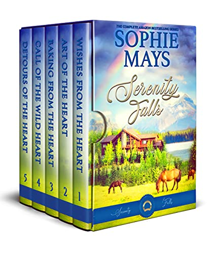 Book Cover of Sophie Mays' Serenity Falls series: Sweet Romance at Wyatt Ranch (Sweet, Small-Town Romance Collections)